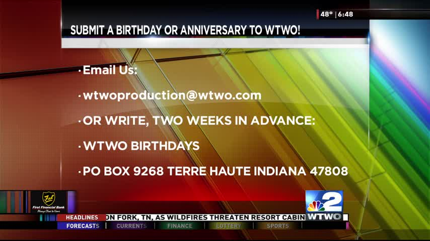 Birthdays 11-29-16