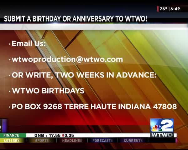 Birthdays and Anniversaries 01/13/17