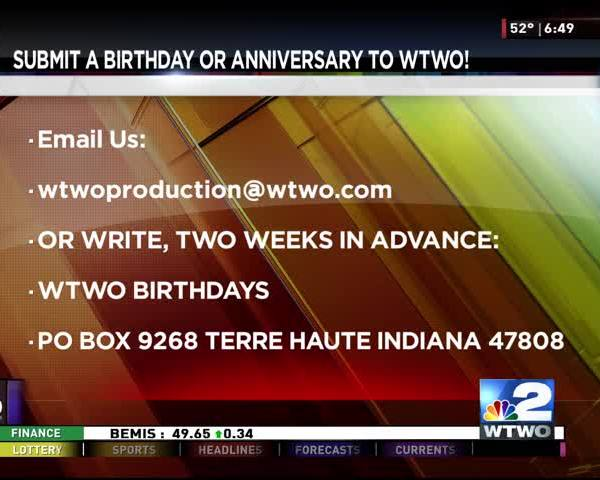 Birthdays and Anniversaries 01/17/17