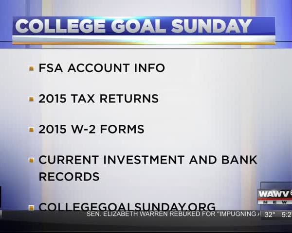 College Goal Sunday 2/8/17