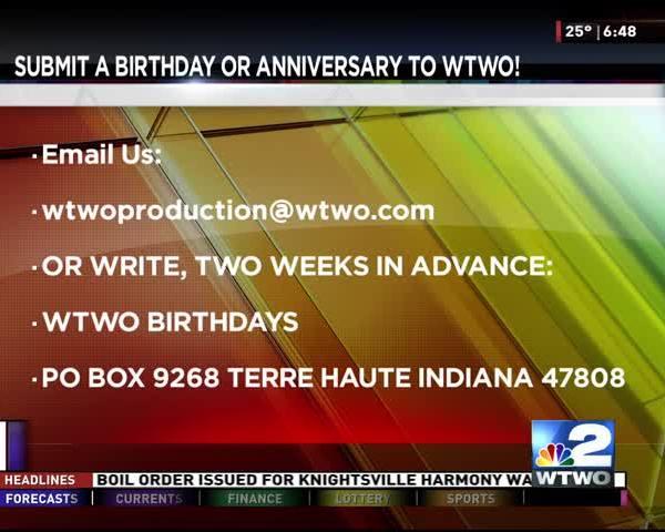 WTWO Today Birthdays 2-16-17