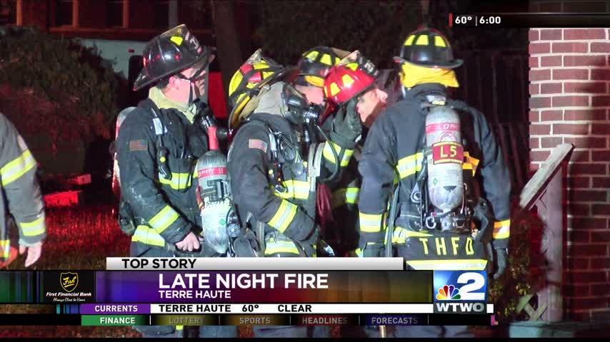 Late Night Fire in Terre Haute 06-09-2017