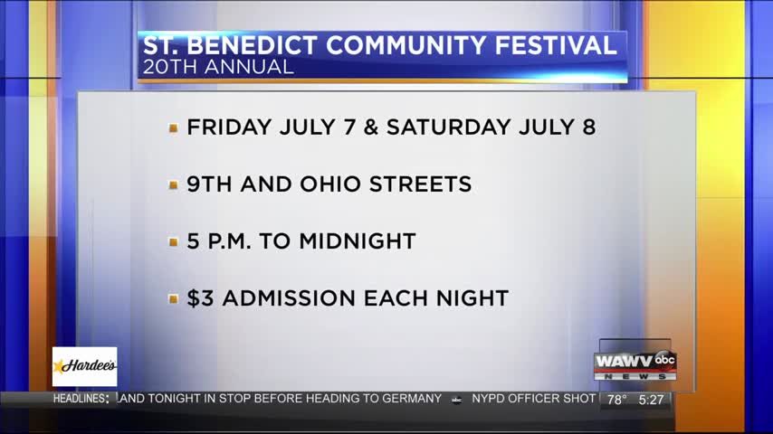 Live Guest: St. Benedict Festival 7-5-17