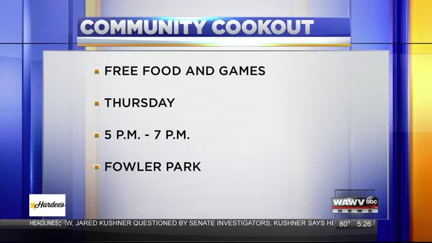 Live Guest: Community Cookout 7-24-17