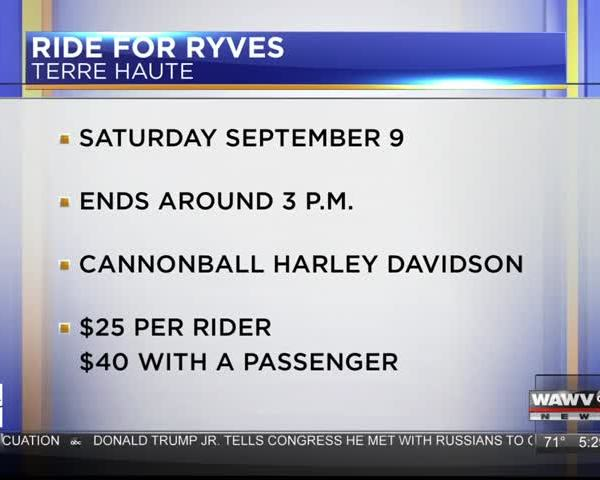 Live At Five Guest: Ride For Ryves 9-7-17