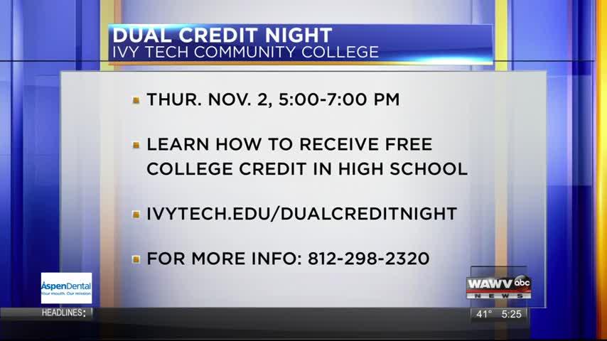 Live at Five Guest: Ivy Tech Dual Credit 10-27-17
