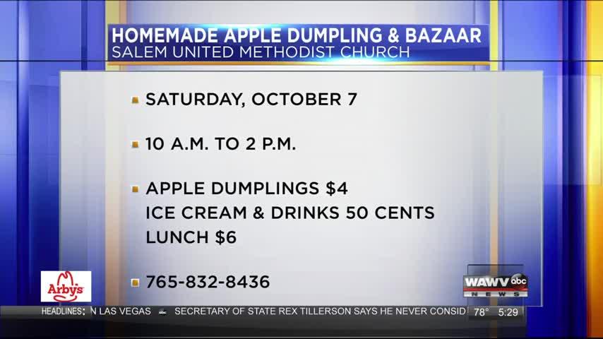 Apple Dumpling Sale 10-4-17