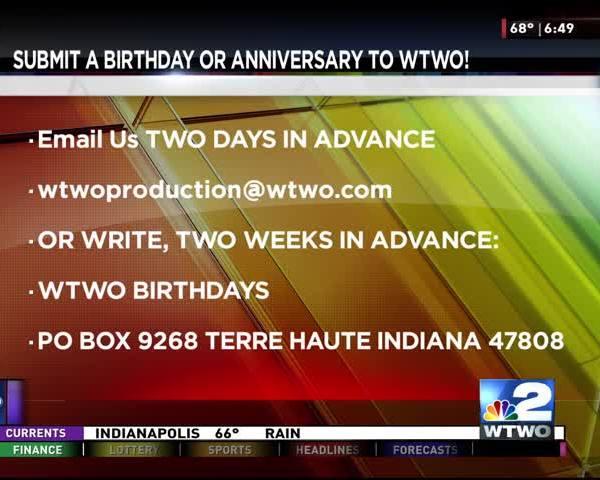 Anniversary and birthdays 10-05-2017