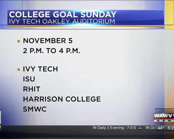 College Goal Sunday 11-1-17