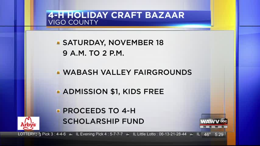 Live at Five Guest: 4-H Holiday Craft Bazaar 11-13-17