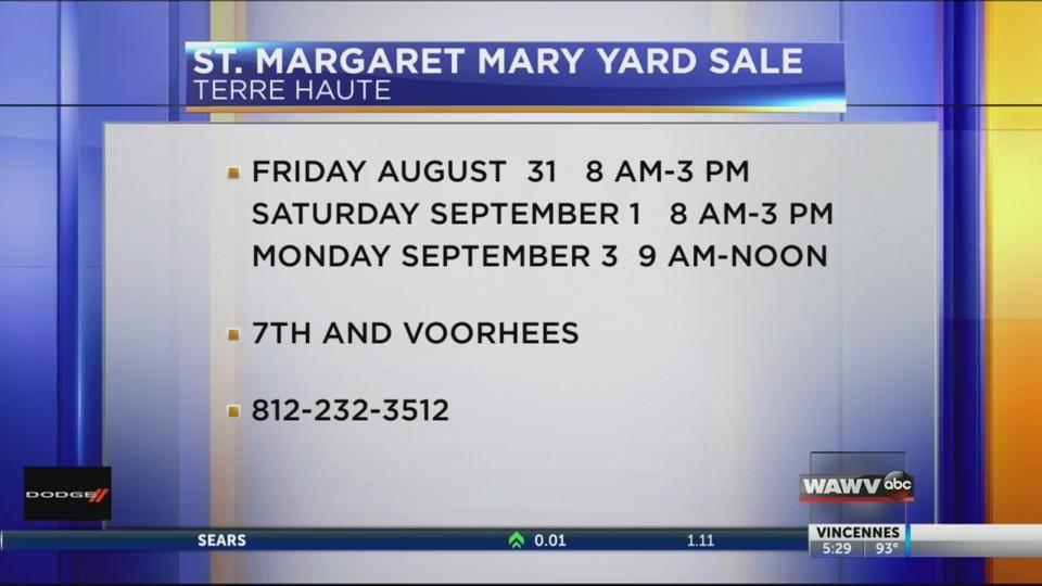 Live at Five St. Margaret Garage Sale 08/27/18