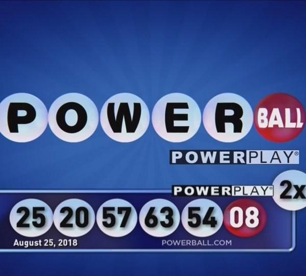 Powerball 8-25-18