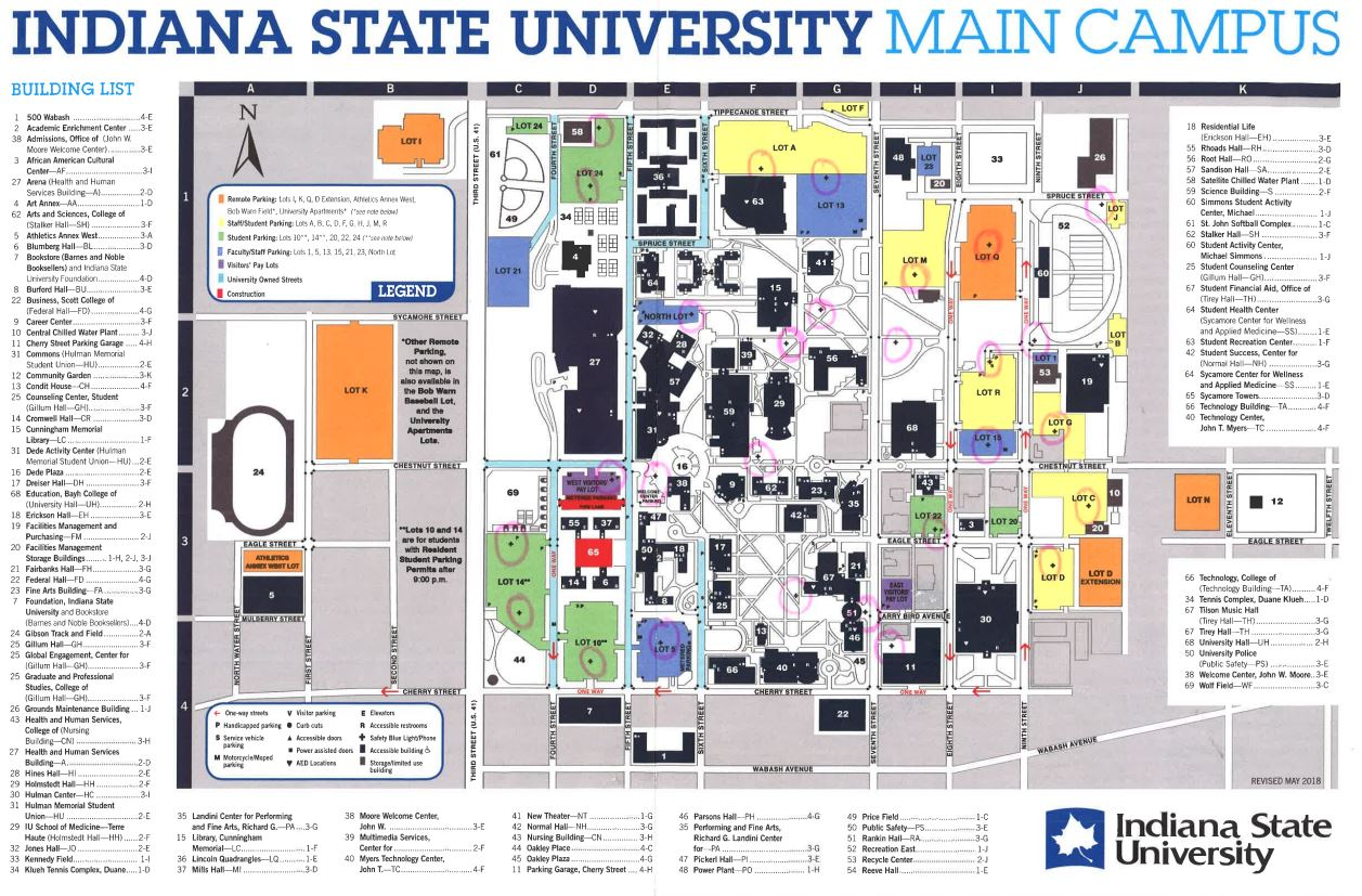 indiana state campus map Indiana State University Homecoming Mywabashvalley Com indiana state campus map
