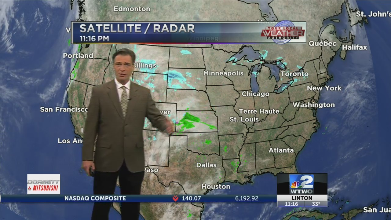 11pm Weather 12-25-18