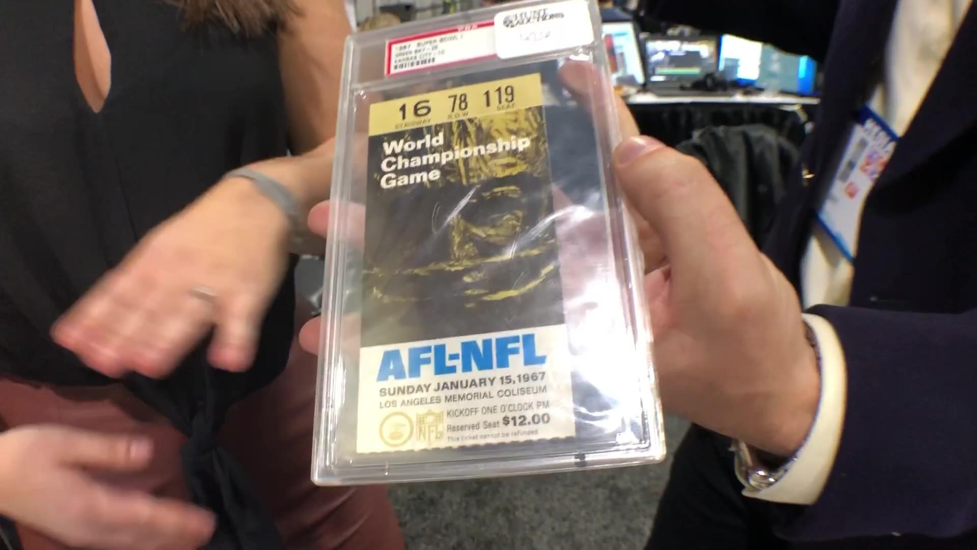 Big Game Memorabilia: 1967 NFL championship ticket, Game-worn Matt Ryan jersey