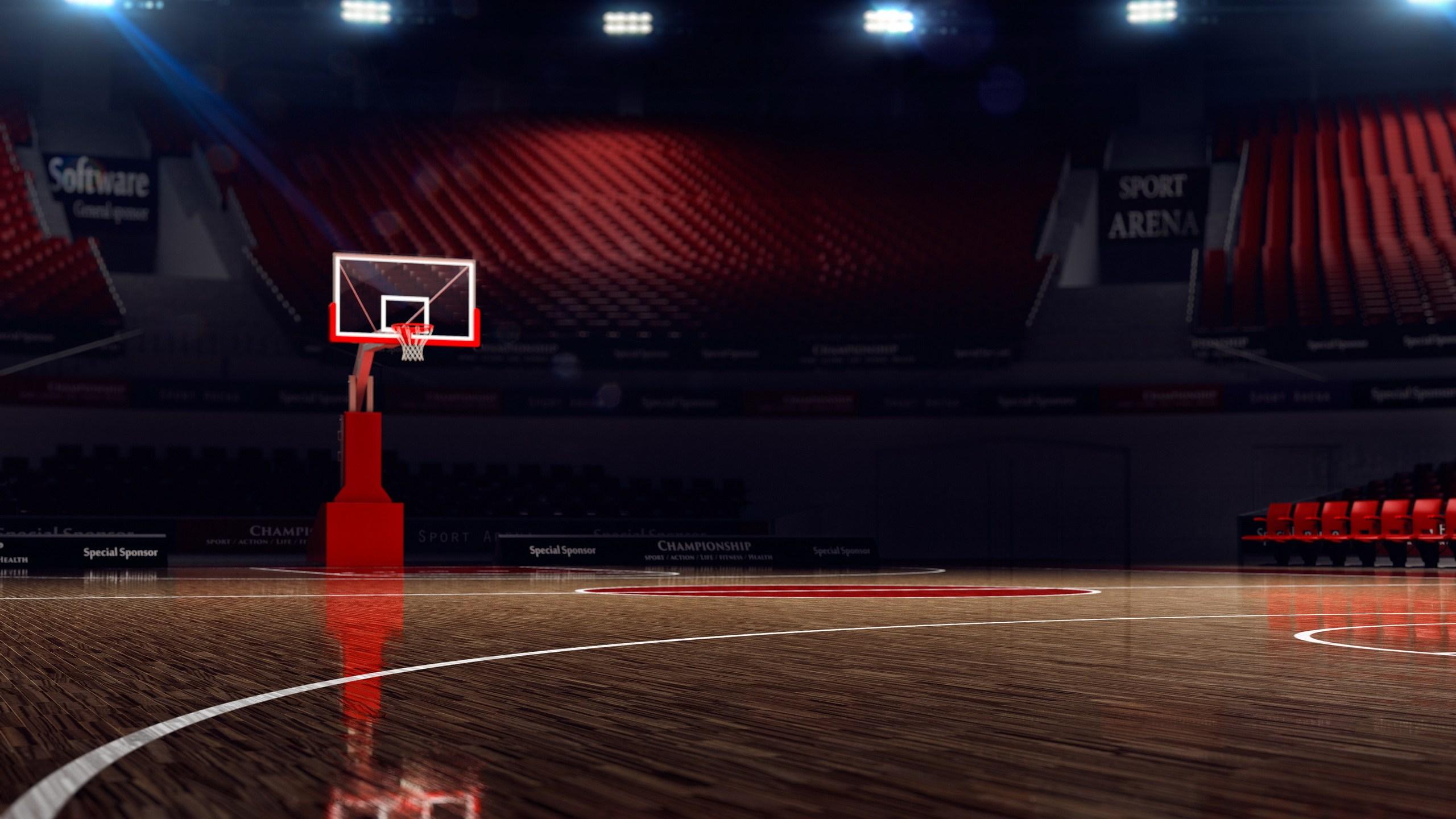 Basketball court. Sport arena. 3d render background. unfocus in _1551497952261