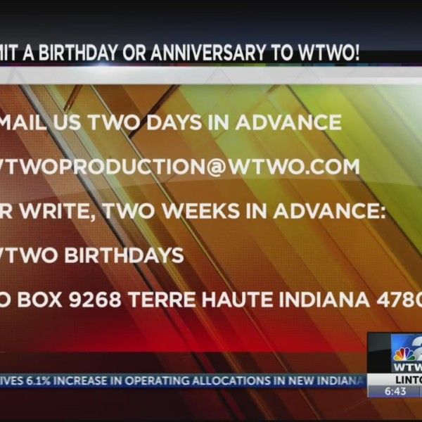 WTWO Today BIRTHDAYS AND ANNIVERSARIES 4-30-19