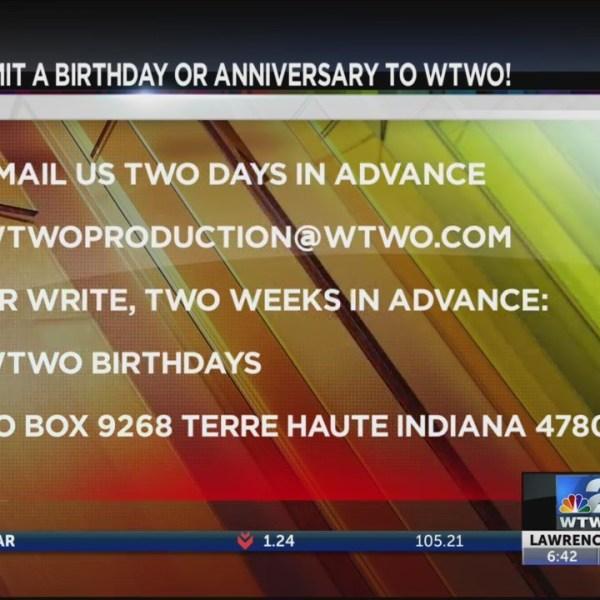 WTWO Today Birthdays & Anniversaries 5/21/2019