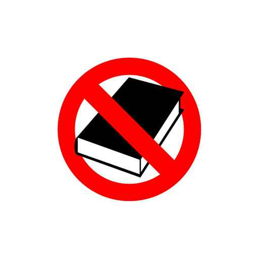 Stop  book. It is forbidden to read. Frozen silhouette books in_1558640773770