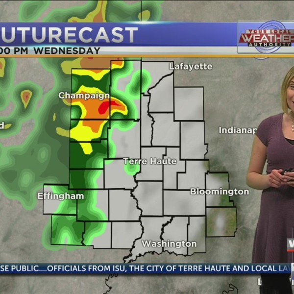 Scattered showers, thunderstorms late this evening