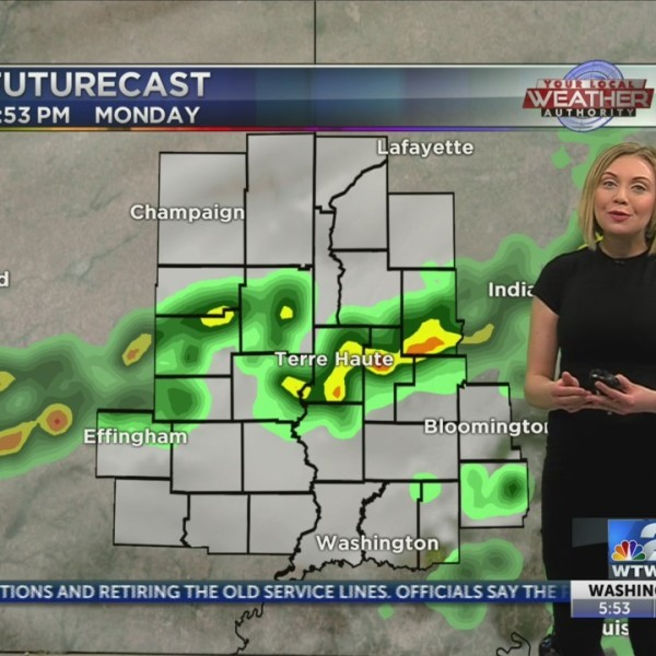 Scattered showers, thunderstorms this afternoon