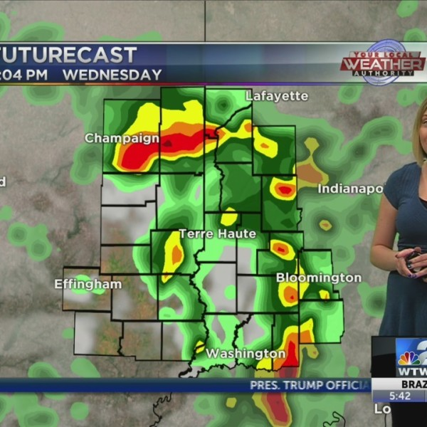 Showers, thunderstorms throughout the afternoon