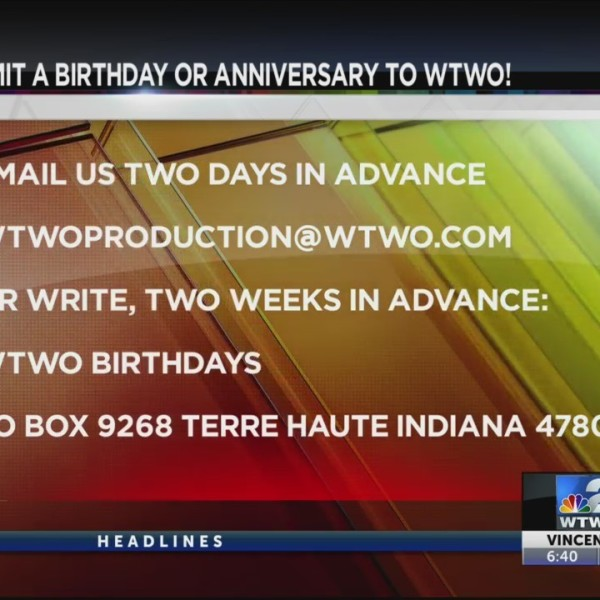 WTWO Today Birthdays & Anniversaries 6/3/2019