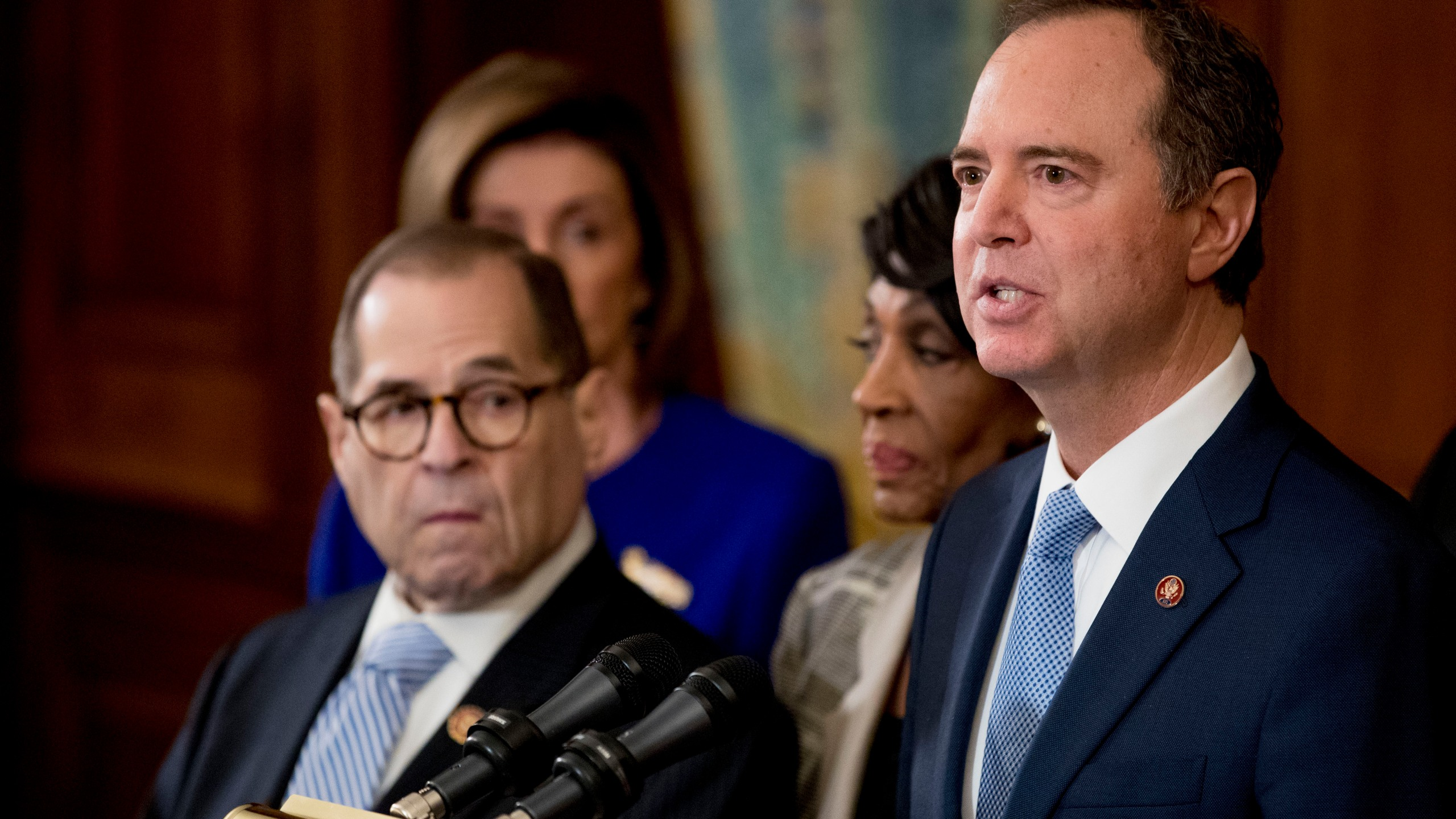 Jerrold Nadler, Adam Schiff, Nancy Pelosi, Maxine Waters