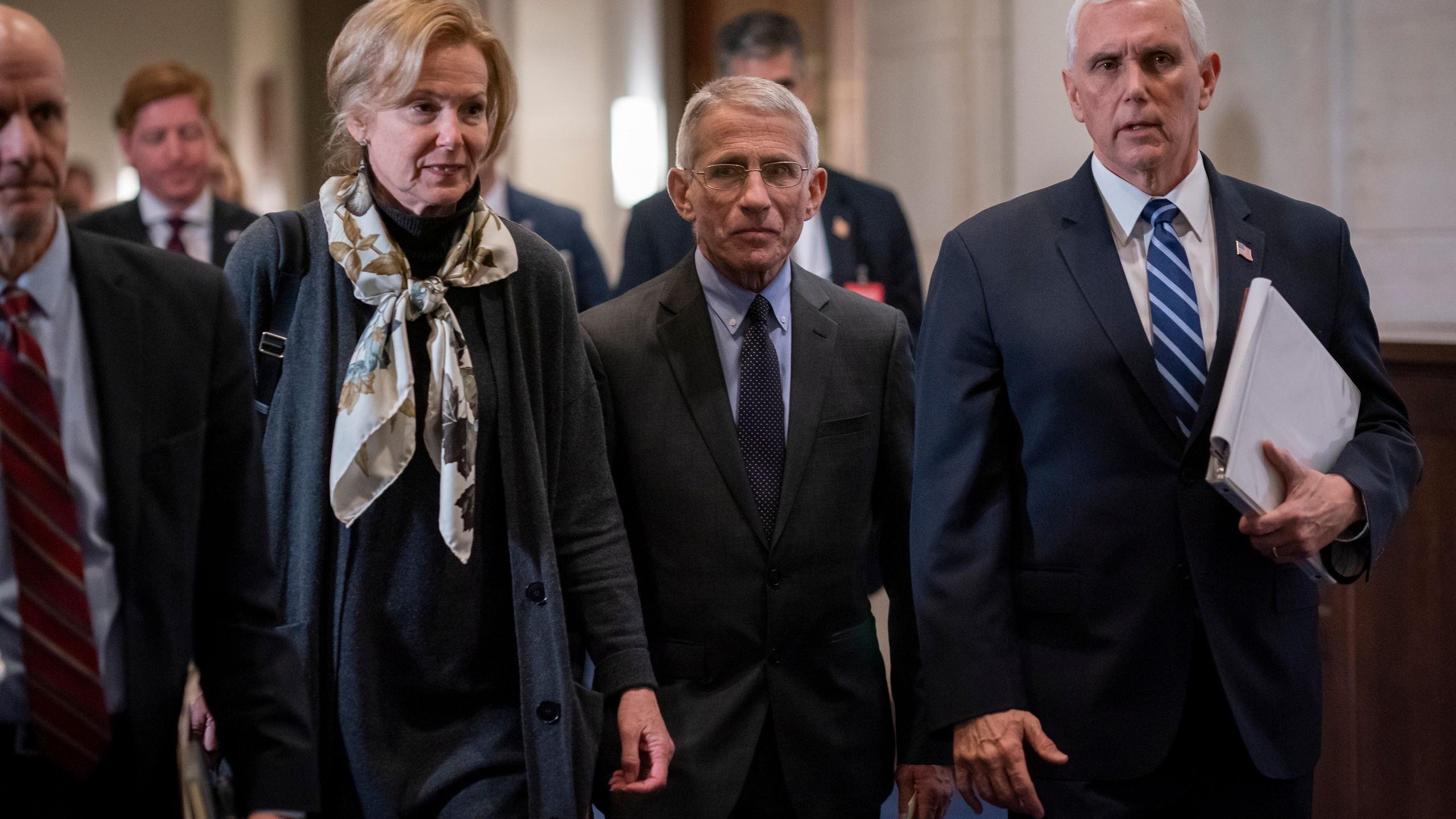 Deborah Birx, Anthony Fauci, Mike Pence