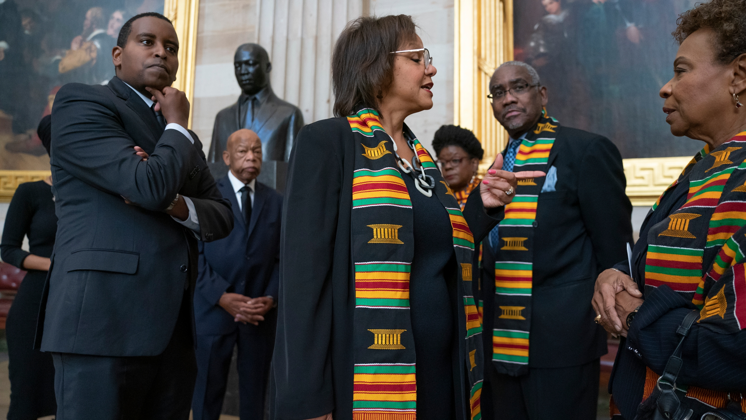 Joe Neguse, John Lewis, Robin Kelly, Gwen Moore, Gregory Meeks, Barbara Lee