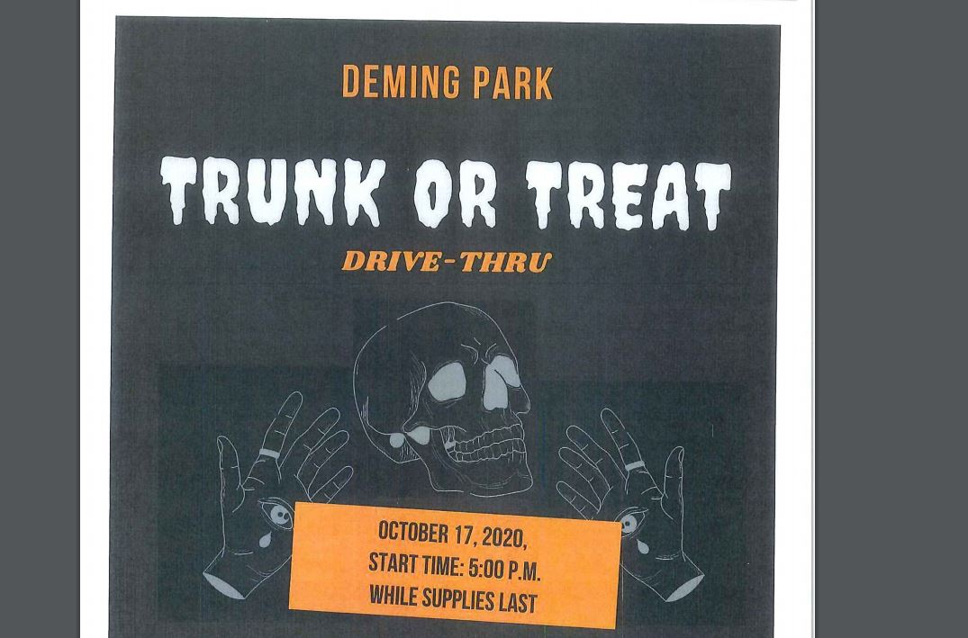 Deming Park Christmas Lights 2020 Drive thru Trunk or Treat event planned at Deming Park