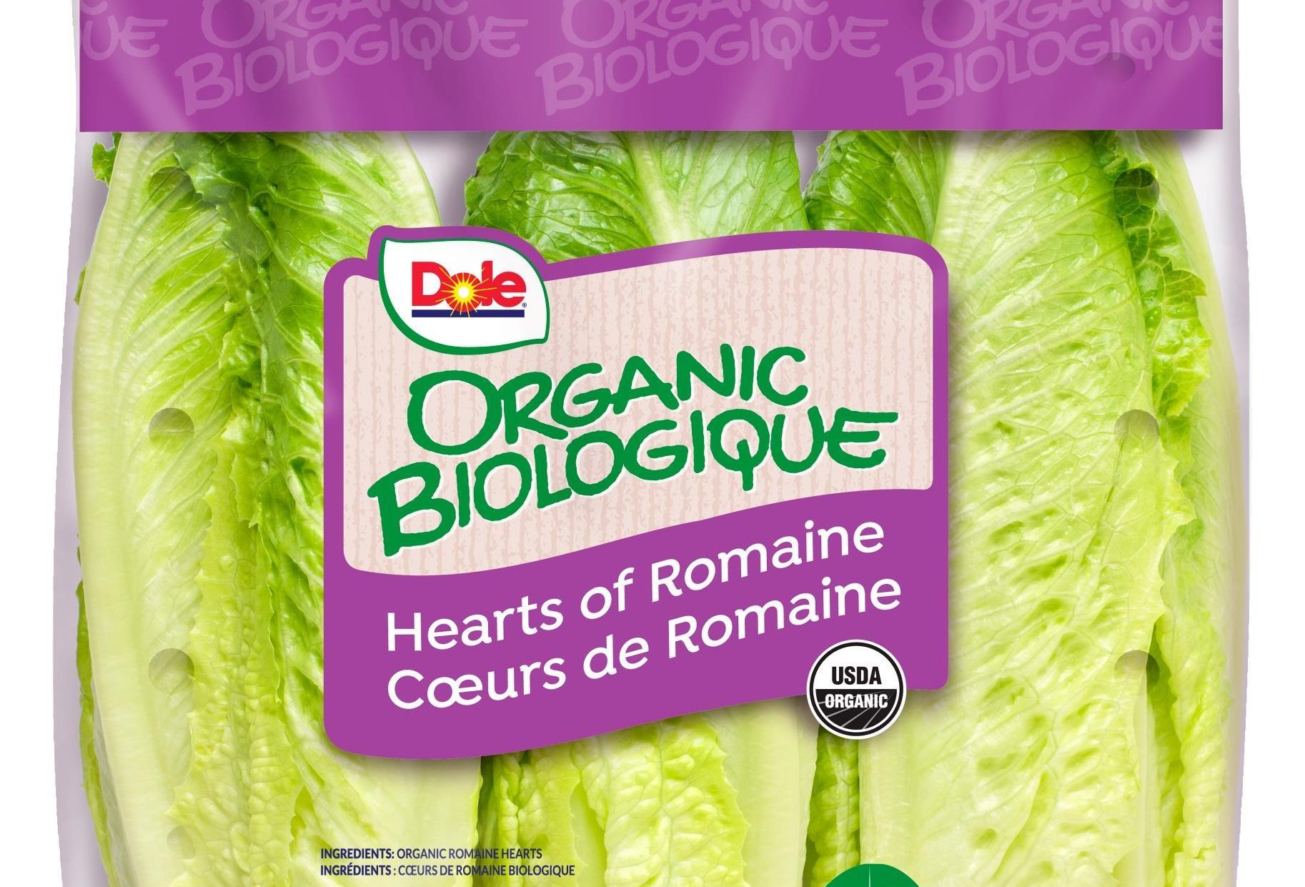 Dole romaine lettuce package