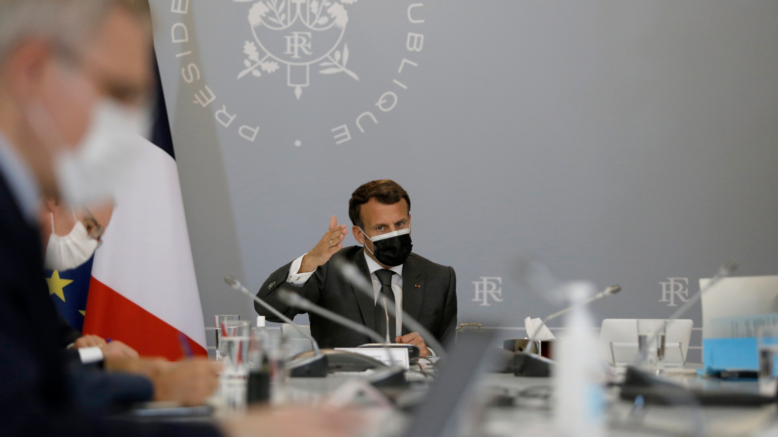 French President Macron in Montpellier for a visit on the theme of security